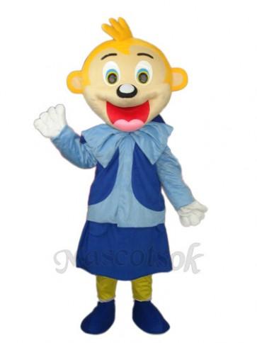 Smart Yellow Head Monkey Mascot Adult Costume