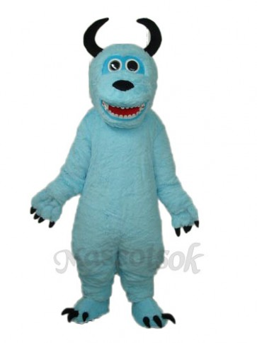 Coral Velvet Monsters Inc Blue Sulley Mascot Adult Costume