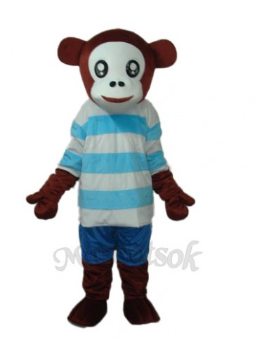 Leisure Version Mr.Jump Monkey Mascot Adult Costume