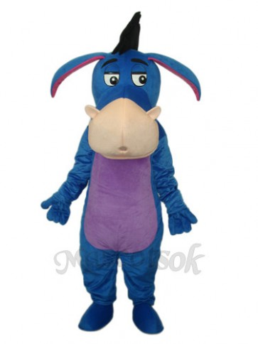 Blue Eeyore Mascot Adult Costume