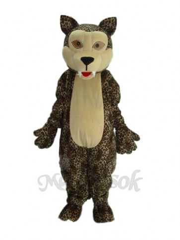 White Face Panther Mascot Adult Costume