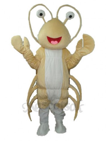 Light Yellow Long Lobster Mascot Costume