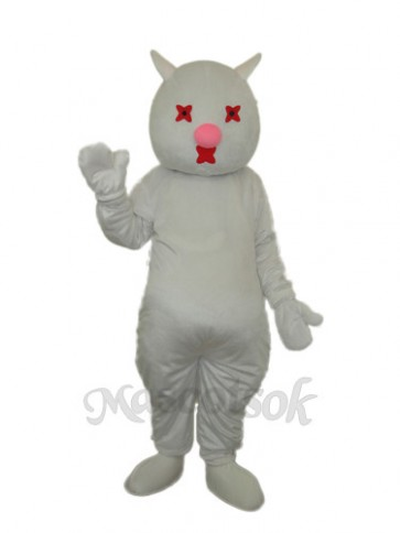White Cat Mascot Adult Costume