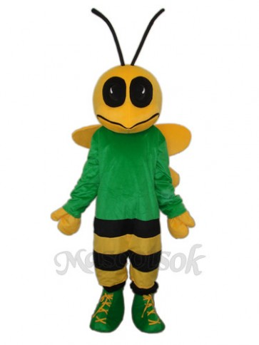 Green Bee Mascot Adult Costume