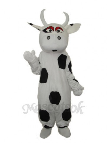 Big Black Dot Cow Mascot Adult Costume