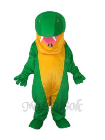Green Snake Mascot Adult Costume