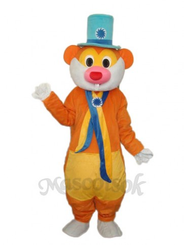 Flower Hat Rat Mascot Adult Costume