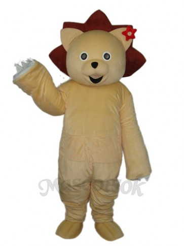 Golden Lion Mascot Adult Costume
