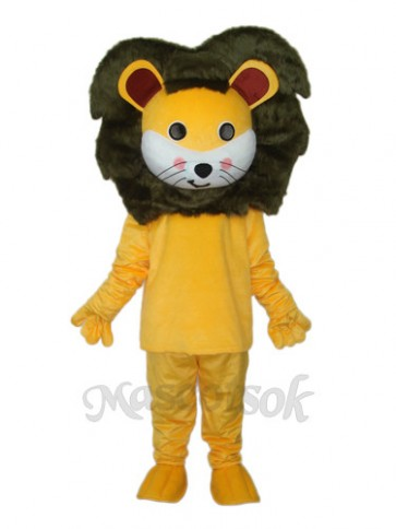 Small Yellow Lion Mascot Adult Costume