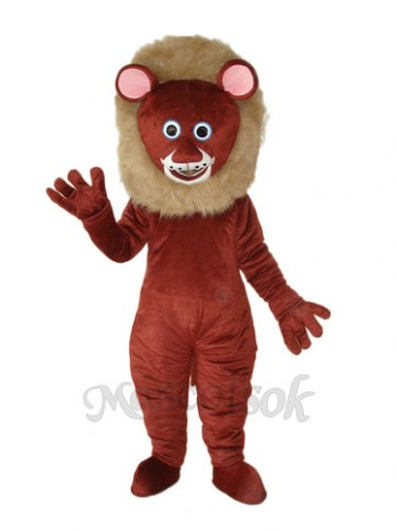 Dark Brown Lion Mascot Adult Costume