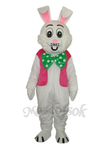 Easter Pink Vest Rabbit Mascot Adult Costume