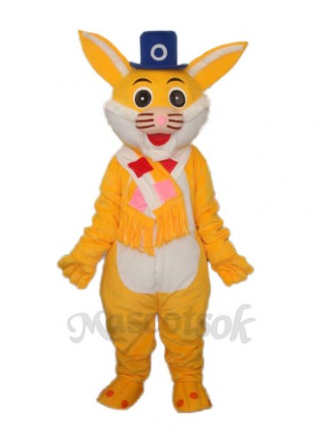 Easter Yellow Rabbit Mascot Adult Costume