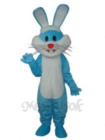 Easter Blue Rabbit Mascot Adult Costume