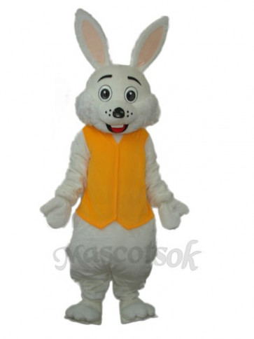 Easter Yellow Vest Rabbit Mascot Adult Costume