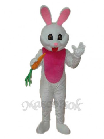 Easter Bunny with Carrot Mascot Adult Costume