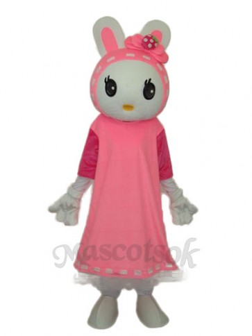 Easter Miss Rabbit Mascot Adult Costume