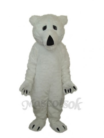 Long Wool Polar Bear Mascot Adult Costume