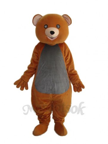 Brown Teddy Bear Mascot Adult Costume