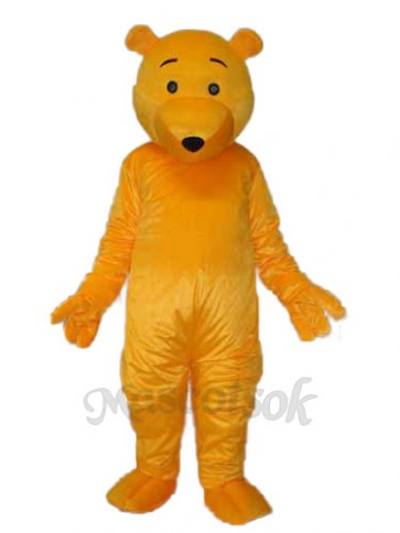 Yellow Bear Mascot Adult Costume