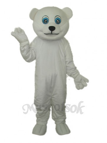 Little Polar Bear Mascot Adult Costume