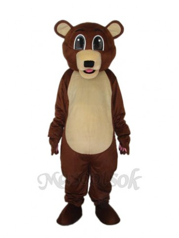 Big Eyes Brown Bear Mascot Adult Costume