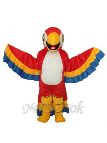 Red Parrot with Lace Tail Mascot Adult Costume