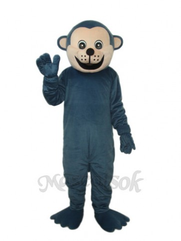 Dark Blue Gorilla Mascot Adult Costume