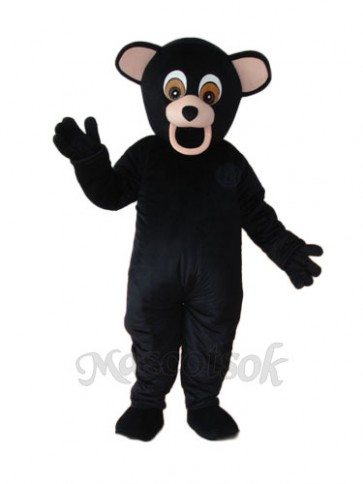 Black Dog Bear Mascot Adult Costume