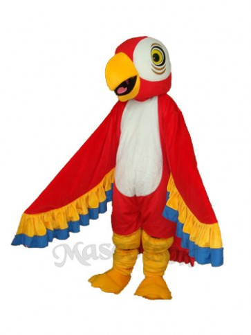 Red Parrot Mascot Adult Costume