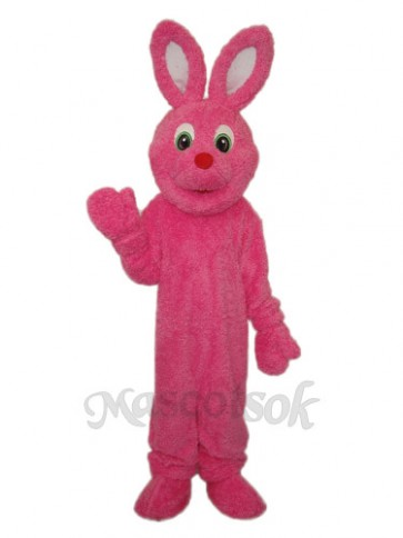 Easter Pink Furry Rabbit Mascot Adult Costume