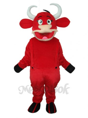 2nd Version Red Cow Mascot Adult Costume
