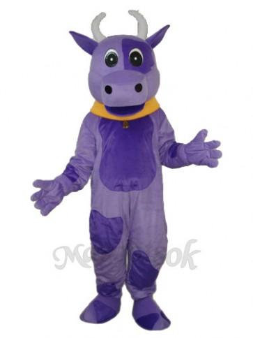 Purple Cow Mascot Adult Costume