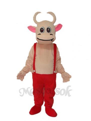 No.3 Cow Mascot Adult Costume