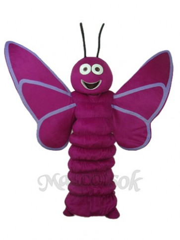 Revised Version Purple Butterfly Mascot Adult Costume