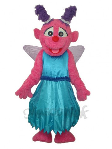 Blue Skirt Little Plum Mascot Adult Costume