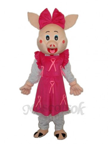 Cute Plump Pig Mascot Adult Costume