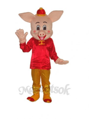 Golden Pig Mascot Adult Costume