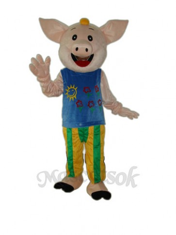Cocoa Male Pig Mascot Adult Costume