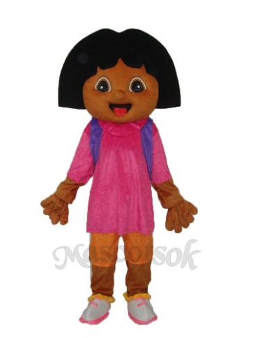 Brown Puppy Fat Face Dora Mascot Adult Costume
