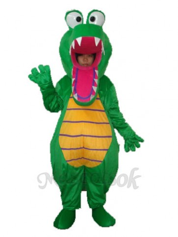 Open Mouth Crocodile Mascot Adult Costume