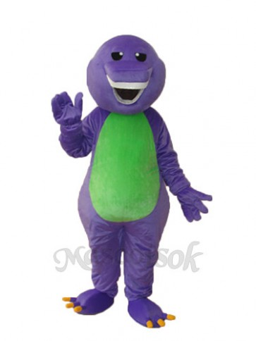 Purple Barney Dinosaur Mascot Adult Costume