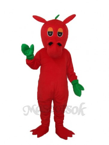 Flower Red  Dragon Mascot Adult Costume