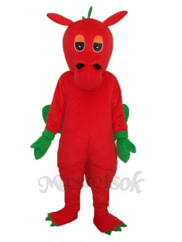 Red Dragon Mascot Adult Costume