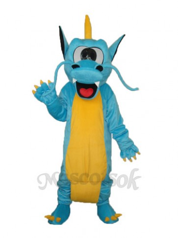 Serrated Teeth Dragon Mascot Adult Costume