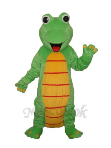 Happy Lizard Dinosaur Mascot Adult Costume