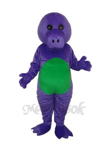 Purple Dinosaur Mascot Adult Costume