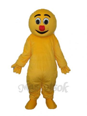 Yellow Monster Mascot Adult Costume