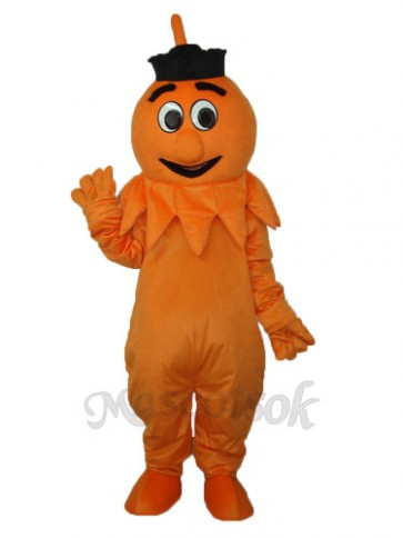Orange Monster Mascot Adult Costume