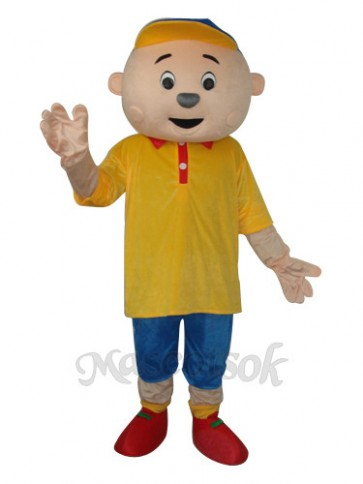 Yellow Boy Mascot Adult Costume