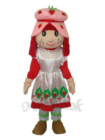 Strawberry Girl Mascot Adult Costume